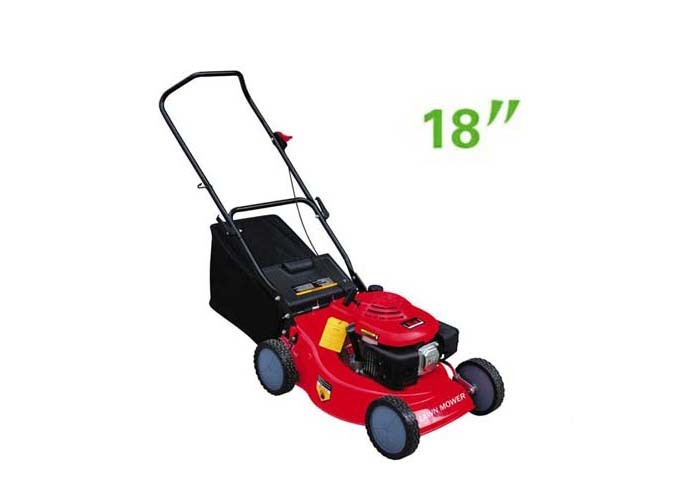 "Adjustable Portable 139CC Garden Lawn Mower 18"" / 460mm Cutting Width"